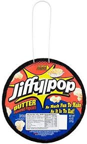 JIFFY POP BUTTER FLAVOURED POPCORN	127 G