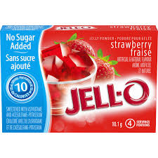 Jello Light Strawberry Jelly 4Serv