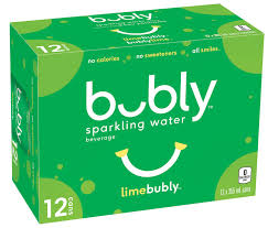 Bubly Sparkling Water  Lime 12Pk 355 Ml