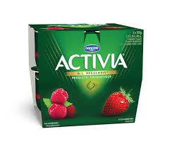 Danone Activia Yogurt, Strawberry/Raspberry 8x100g