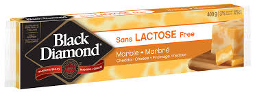 BLACK DIAMOND LACTOSE FREE MARBLE CHEESE BAR 400 G