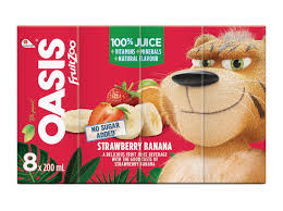 OASIS FRUIT ZOO STRAWBERRY BANANA	8X200ML