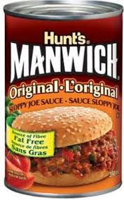 Hunts Manwich Sauce/Sloppy Joe 398mL