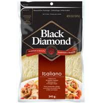 Black Diamond Shredded Italiano Cheese 340g