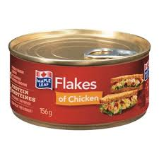 MAPLE LEAF FLAKES OF CHICKEN 156 G