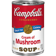 CAMPBELLS CREAM OF MUSHROOM SOUP 10OZ
