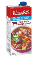 Campbell's Beef Broth, No Salt Added 900mL