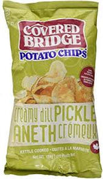 Covered Bridge Kettle Cooked Chips, Creamy Dill Pickle 170g