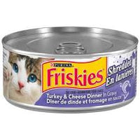 Friskies Shredded Wet Cat Food, Turkey & Cheese Dinner in Gravy 156g