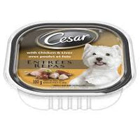 Cesar Dog Food, Chicken & Liver 100g