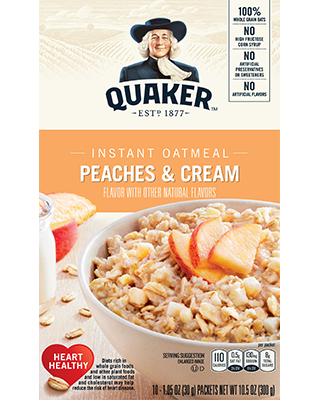 Quaker Instant Oatmeal, Peaches & Cream 8Pk