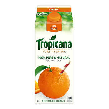 TROPICANA PURE PREMIUM ORANGE NO PULP 1.89LT