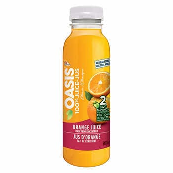 Oasis 100% Orange Juice Bottled CLUB SIZE 24x300ml