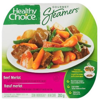 Healthy Choice Gourmet Steamers Beef Merlot Frozen Dinner 284 g