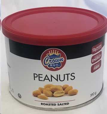 Crown Nut Salted Peanuts	190 G