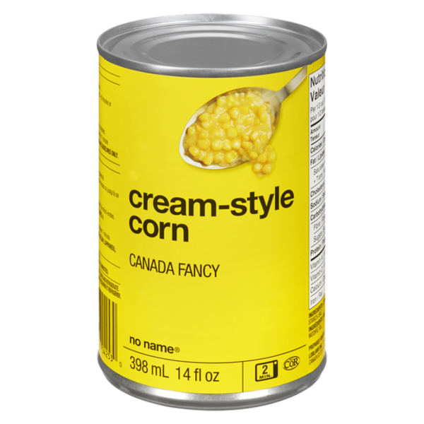 No Name Cream Style Corn 398 ML