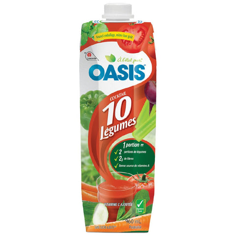 OASIS 10 VEGETABLE COCKTAIL	960 ML