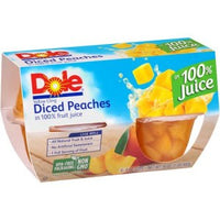 Dole Diced Peaches 4 Pk