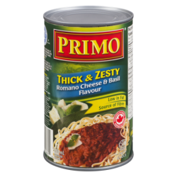 Primo Thick & Zesty Romano Cheese & Basil Pasta Sauce 680mL