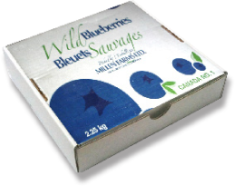 Millen Frozen Wild Blueberries 2.25 Box