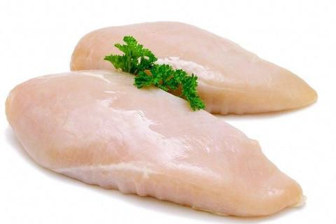 BONE IN SKINLESS CHICKEN BREAST 1 KG