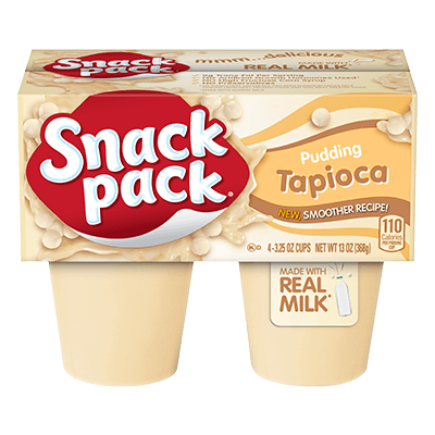 Hunts Tapioca Pudding Snackpk 4Pack