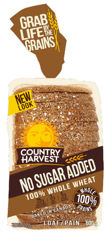 C HARVEST NO SUGAR NO FAT WHOLE GRAIN BREAD 675 G