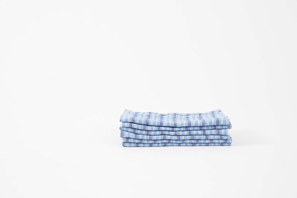French Linen Blue Stripe Napkins