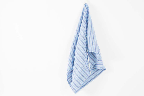 French Linen Blue Stripe Towel