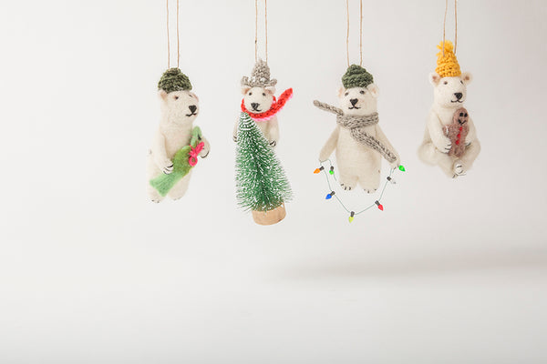 Christmas Polar <br> Bear Ornaments