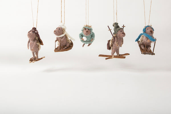 Holiday <br> Hedgehog Ornaments