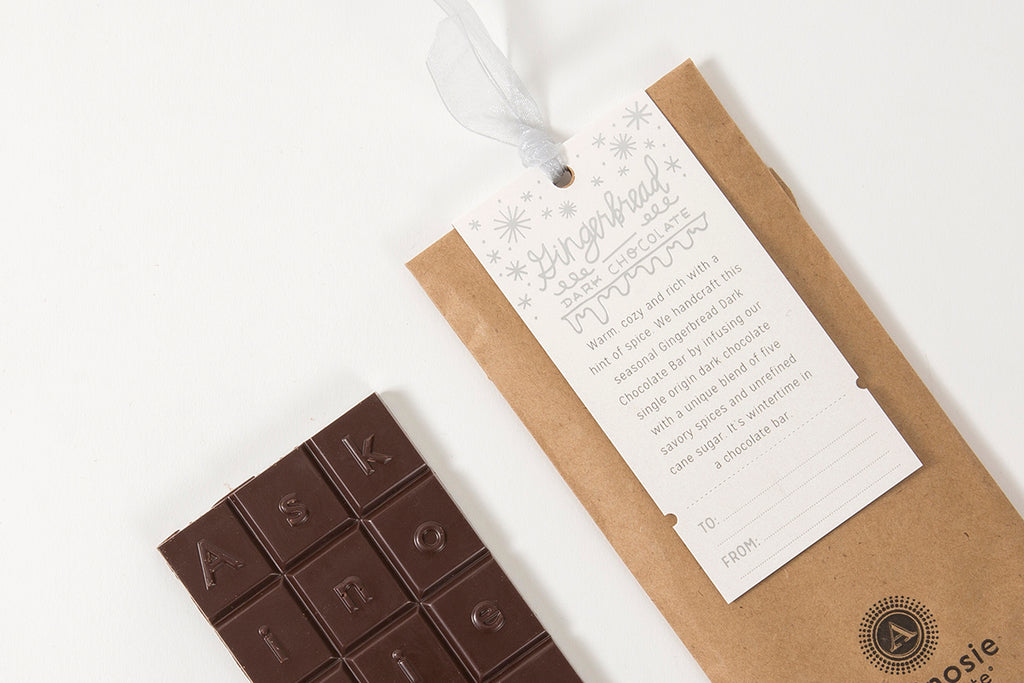 Gingerbread Dark Chocolate Bar