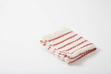 Japanese Cotton Towel Red Stripe