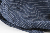 French Linen Navy With White Stripe Napkins