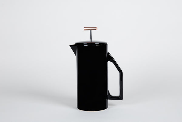 Ceramic French Press <br> Black
