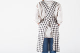 French Linen Checkered Farmhouse Apron