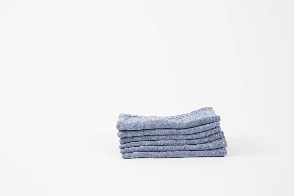 French Linen Indigo Napkins