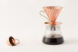 Hario Copper Coffee Scoop and Copper Pour Over