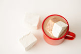 Persephone Bakery Hot Chocolate with Marshmallow in Red Falcon Mug