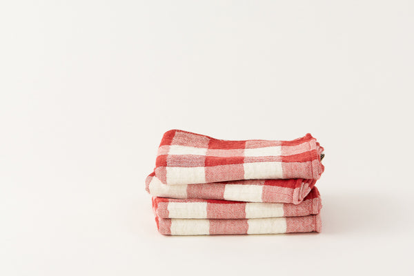 Japanese Kontex by Morihata Cotton Towel Red Check
