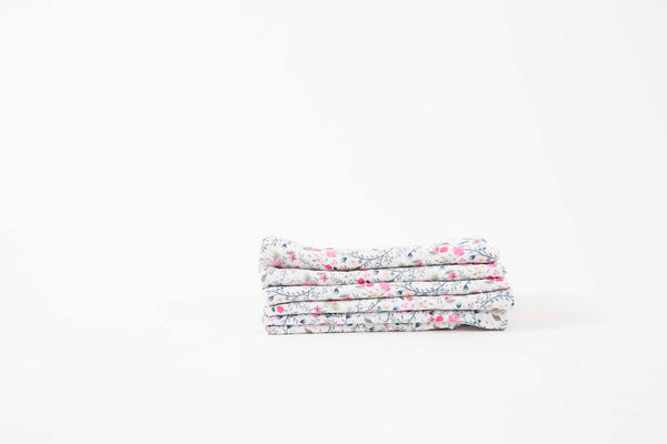 French Linen Pink Floral Napkins