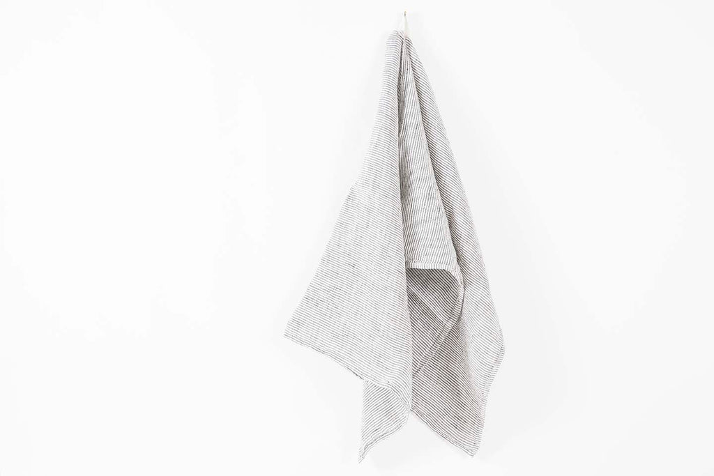 French Linen Stone Stripe Towel
