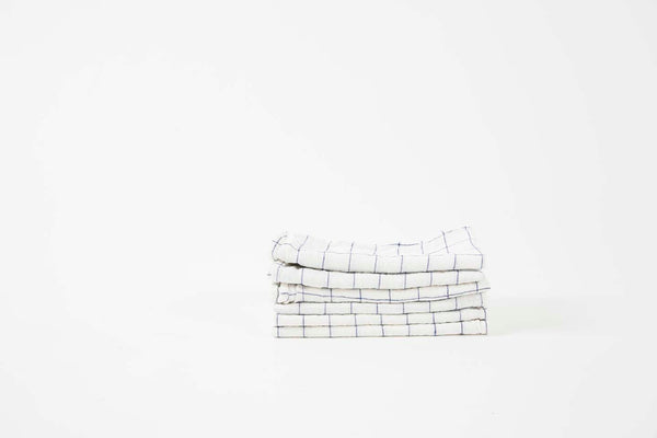 French Linen Tennis Check Napkins