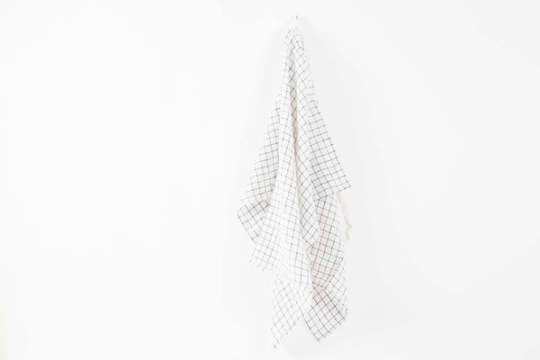 French Linen Tennis Check Towel