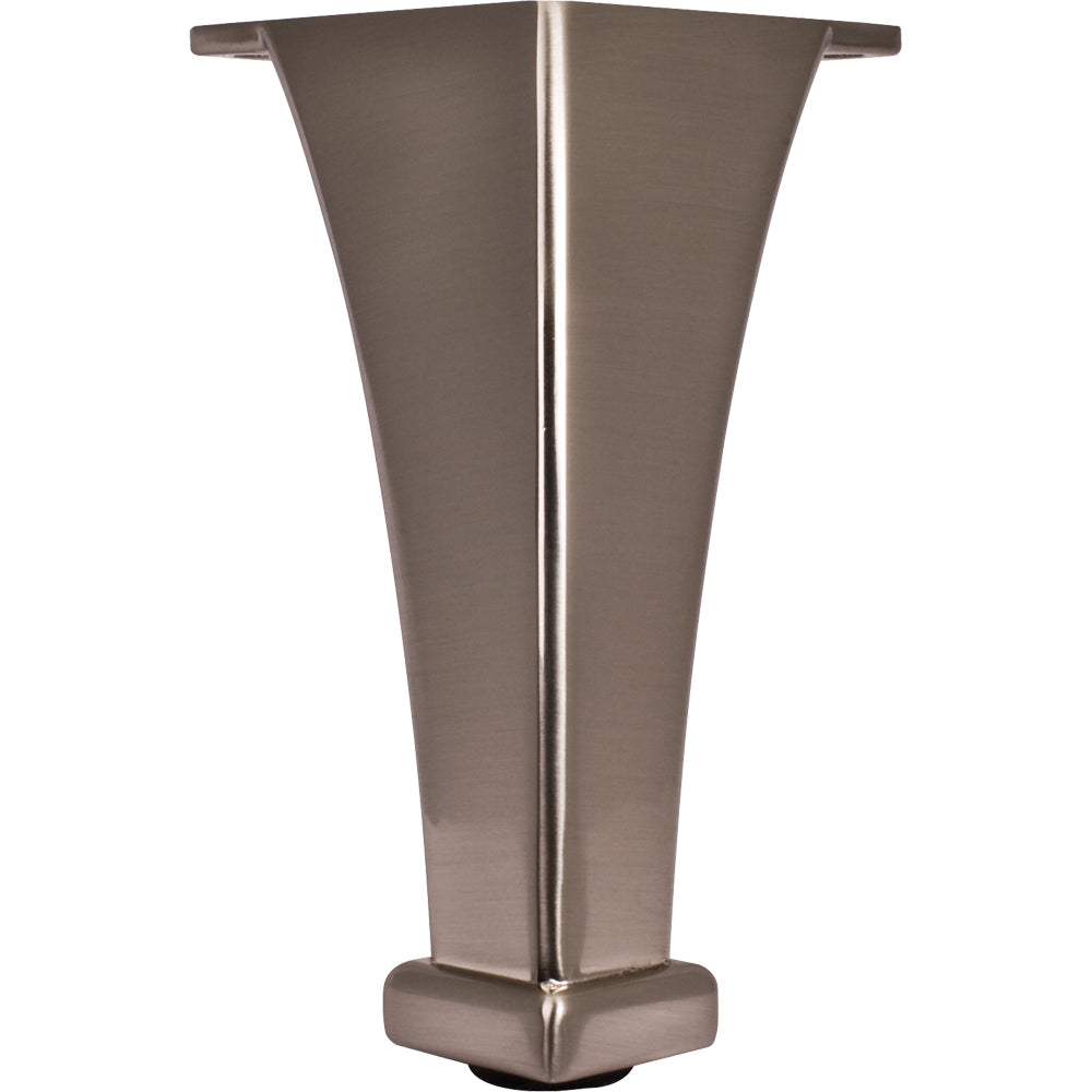 Squared Furniture Leg-Satin Nickel (Zinc)