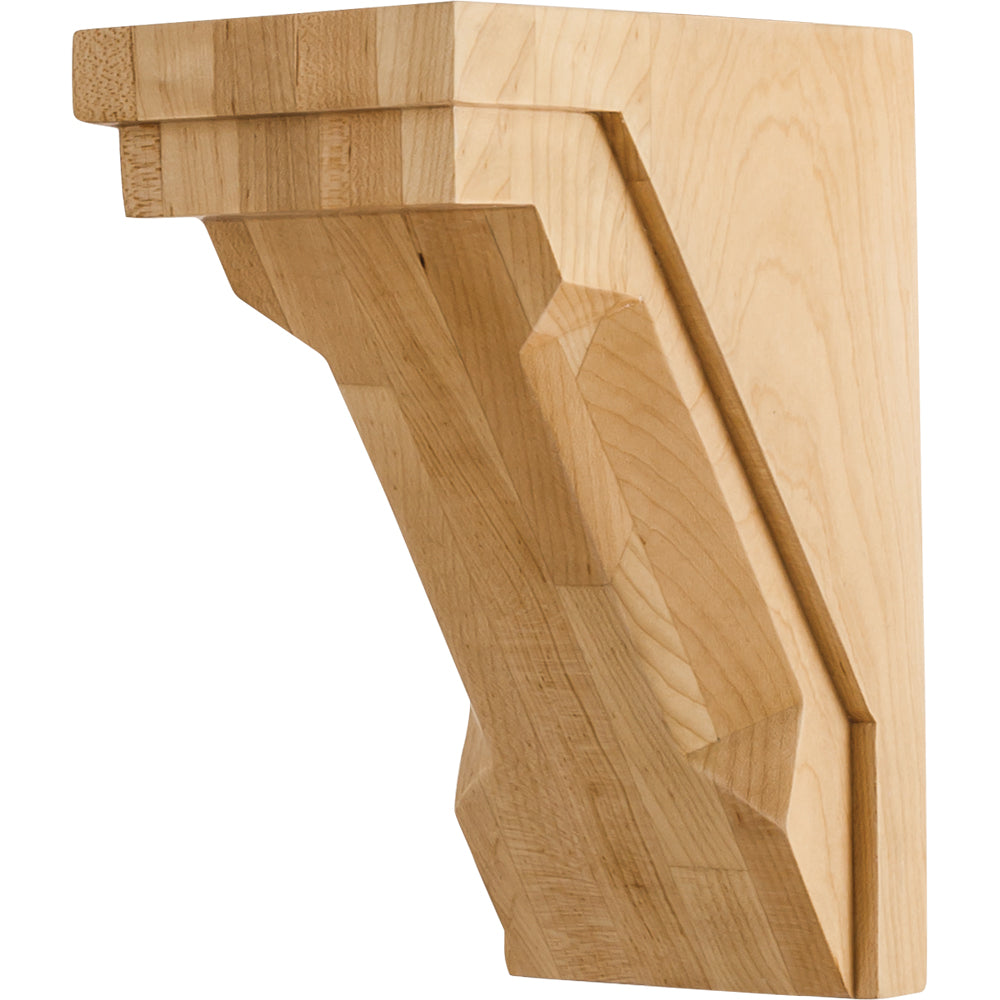 Modern Corbel with Chamfer Edge   -Unfinished (Rubberwood)