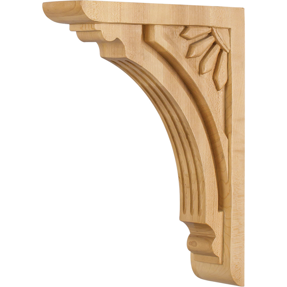 Art Deco Corbel-Unfinished (Rubberwood)