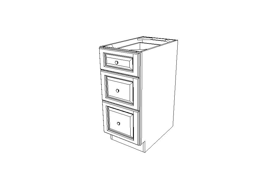 DB15(3) Drawer Base Cabinet Gray Shaker (AG)