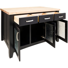 ISL07-BLK Contemporary ACCENT KITCHEN ISLAND