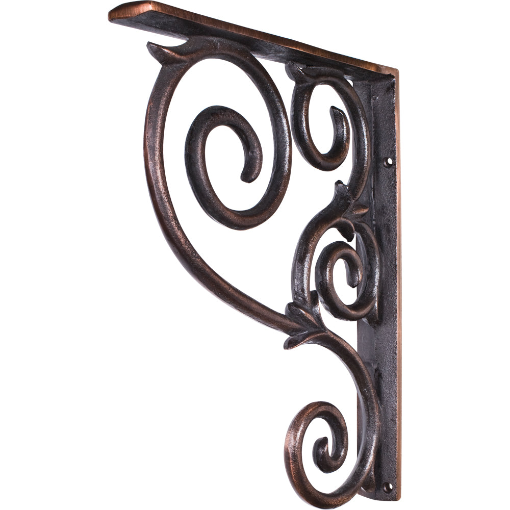 Metal (Iron) Scrolled Bar Bracket-Brushed Oil Rubbed Bronze (Steel)